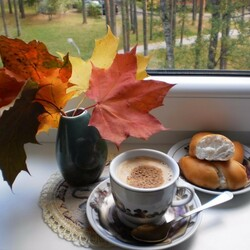 Jigsaw puzzle: Autumn coffee