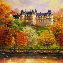 Jigsaw puzzle: Biltmore in the fall
