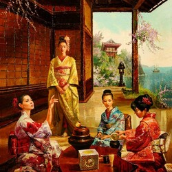 Jigsaw puzzle: Tea ceremony