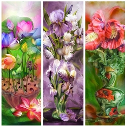 Jigsaw puzzle: Collage of flowers
