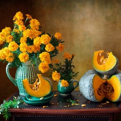 Jigsaw puzzle: Orange autumn