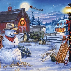 Jigsaw puzzle: Christmas on the farm