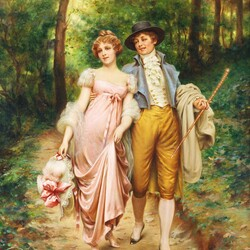 Jigsaw puzzle: A young couple