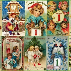 Jigsaw puzzle: New Year's cards