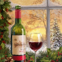 Jigsaw puzzle: A glass of wine