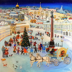 Jigsaw puzzle: Christmas tree on Palace Square
