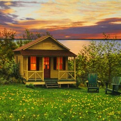 Jigsaw puzzle: House by the ocean