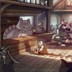 Jigsaw puzzle: Cat tavern