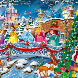 Jigsaw puzzle: New Year at Disneyland