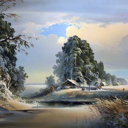 Jigsaw puzzle: Winter landscape