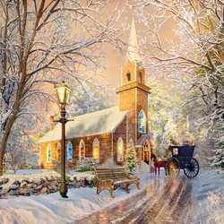 Jigsaw puzzle: Golden winter afternoon