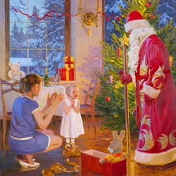 Jigsaw puzzle: Santa Claus has come
