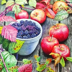 Jigsaw puzzle: Apples and Blackberries
