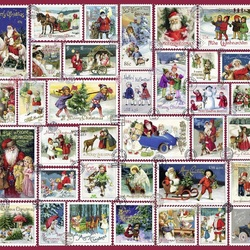 Jigsaw puzzle: Christmas stamps