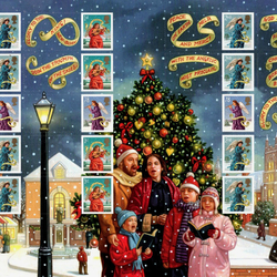 Jigsaw puzzle: Stamps for Christmas