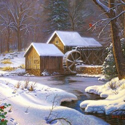 Jigsaw puzzle: Old mill