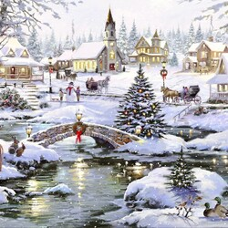 Jigsaw puzzle: Christmas walks