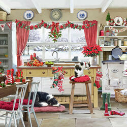 Jigsaw puzzle: Christmas kitchen