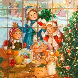 Jigsaw puzzle: Children at the showcase