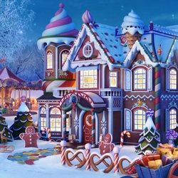 Jigsaw puzzle: Christmas on the doorstep