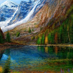 Jigsaw puzzle: Mountain Lake