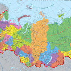 Jigsaw puzzle: Administrative map of Russia