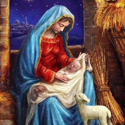 Jigsaw puzzle: Mary with baby