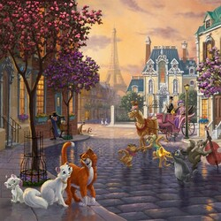 Jigsaw puzzle: Aristocratic cats