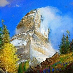 Jigsaw puzzle: Steep mountain