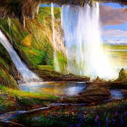Jigsaw puzzle: Waterfalls