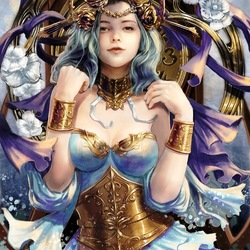 Jigsaw puzzle: Young goddess