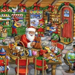 Jigsaw puzzle: Santa's workshop