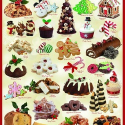 Jigsaw puzzle: Christmas sweets