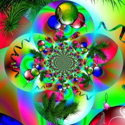 Jigsaw puzzle: New year fractal