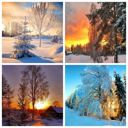 Jigsaw puzzle: Winter sunsets and sunrises