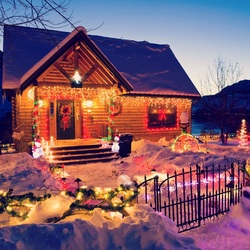 Jigsaw puzzle: Christmas at the hut