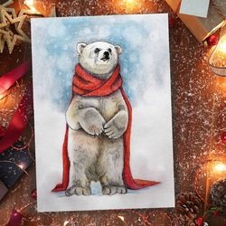 Jigsaw puzzle: Christmas polar bear