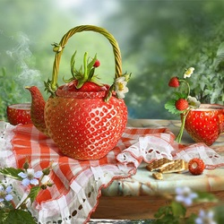 Jigsaw puzzle: Strawberry tea party