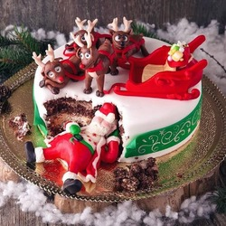 Jigsaw puzzle: New year cake