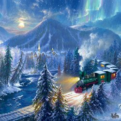 Jigsaw puzzle: Christmas train