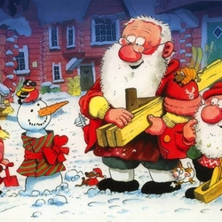 Jigsaw puzzle: Santa Claus and his friends