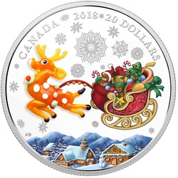 Jigsaw puzzle: Holiday Deer Coin