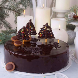 Jigsaw puzzle: Chocolate cake