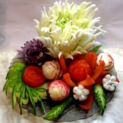 Jigsaw puzzle: Composition of vegetables and fruits