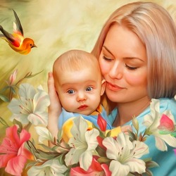 Jigsaw puzzle: Mother's love