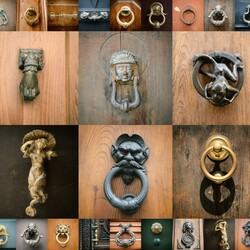 Jigsaw puzzle: Door handles of ancient Rome