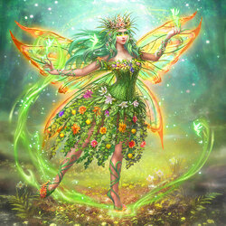 Jigsaw puzzle: Fairy of the flower meadow