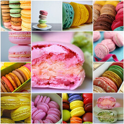 Jigsaw puzzle: Collage about macaroons