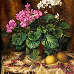 Jigsaw puzzle: Still life with geraniums