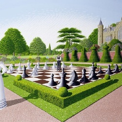 Jigsaw puzzle: Chess game